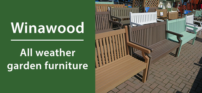 The range of Winawood garden furniture